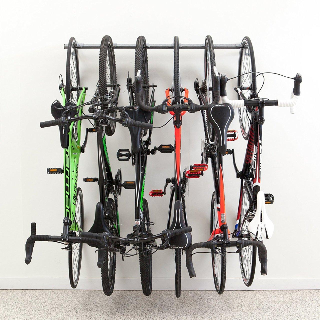 Bike Storage Rack | 6 Hanging Bikes  sc 1 st  StoreYourBoard & Bike Storage Rack | 6 Hanging Bikes - StoreYourBoard.com
