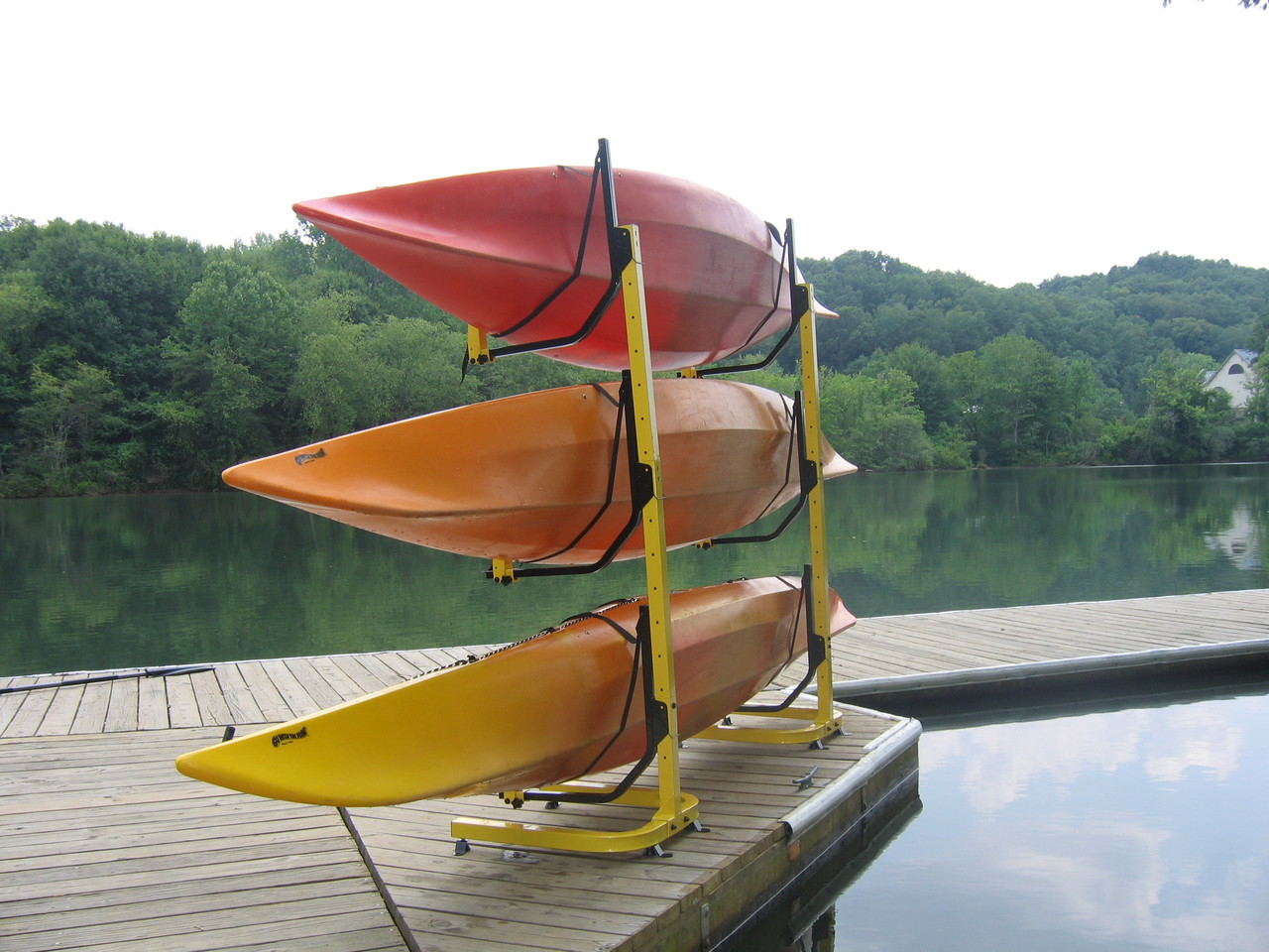Attrayant 3 Kayak Rack For Dock Or Pier