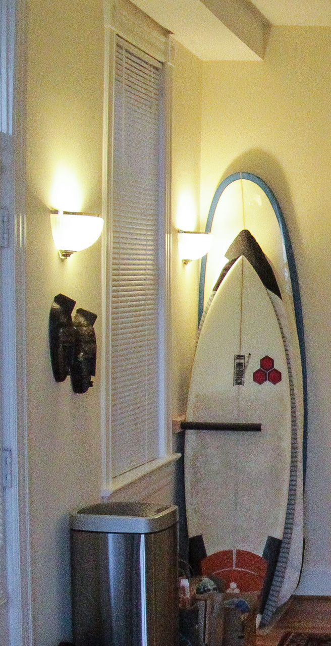 Upright Surfboard Storage