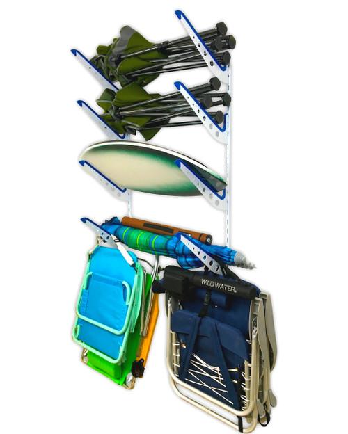 Beach Gear Wall Rack Beach Chairs and Umbrellas Storage