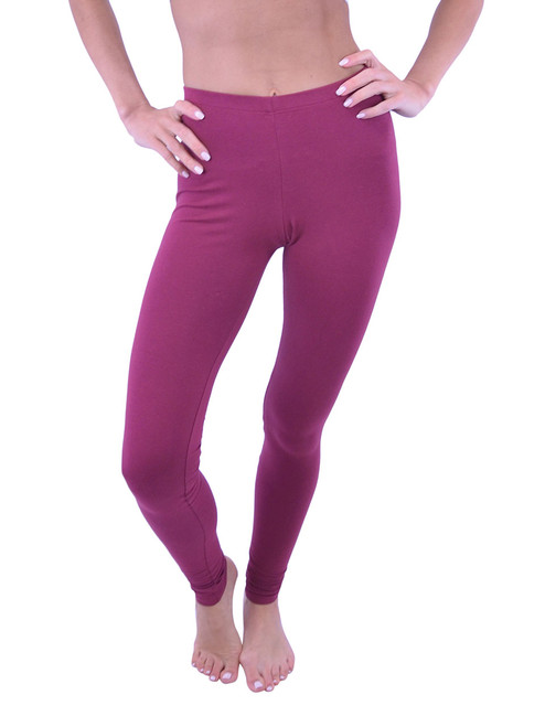 Vivian's Fashions Long Leggings - Cotton, (Misses and Misses Plus Sizes)