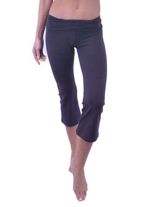 Vivian's Fashions Yoga Pants - Capri (Junior and Junior Plus Sizes)