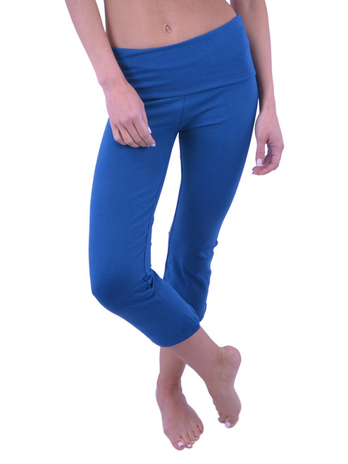 Vivian's Fashions Yoga Pants - Capri (Misses and Misses Plus Sizes)