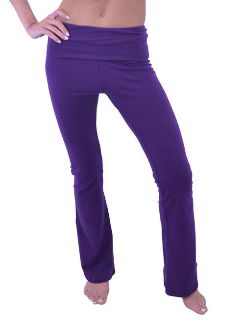 Vivian's Fashions Yoga Pants - Full Length (Junior and Junior Plus Sizes)