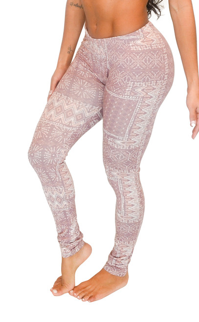 Vivian's Fashions Long Leggings - Aztec Design (Junior and Junior Plus Sizes)