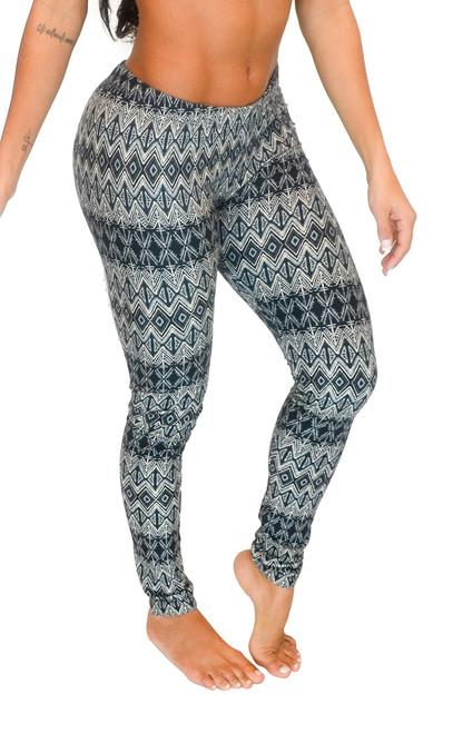 Vivian's Fashions Leggings - Aztec Print (Junior and Junior Plus Sizes)