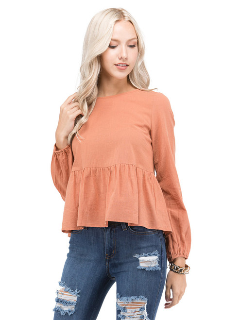 Petalroz Top - Ruffle Top, Bow Tie Back