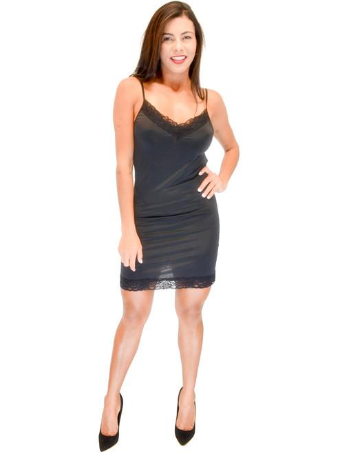 Vivian's Fashions Slip Dress - Lace Details, Nightwear (Misses and Misses Plus)