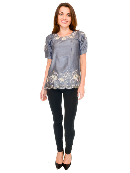 Women's Top - Embroidered Blouse