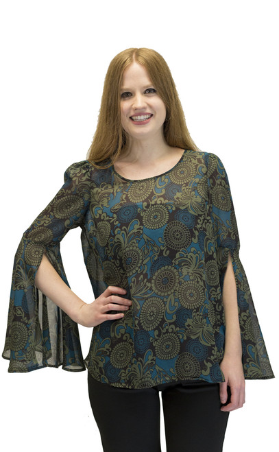 Women's Top - Bell Sleeves Tunic