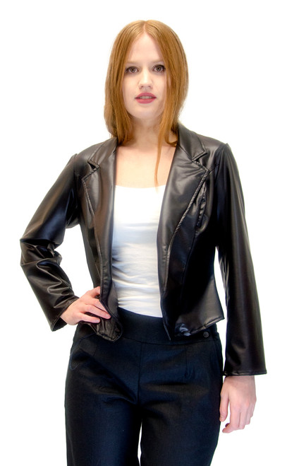 Vivian's Fashions Jacket - Liquid Leather Basic Jacket
