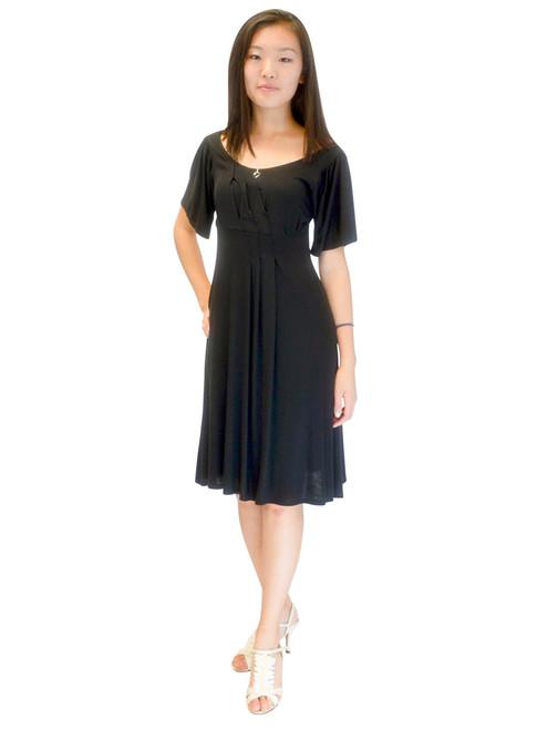 Vivian's Fashions Dress - Empire Cut, Pleated Dress