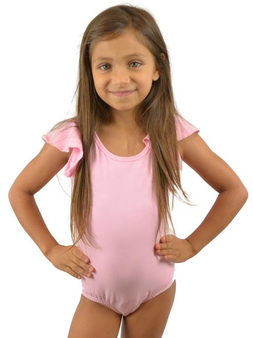 Vivian's Fashions Dancewear - Girls Ruffle Peplum Sleeves leotard