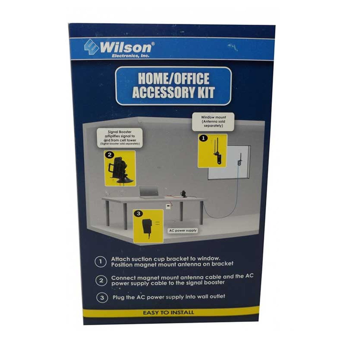 Wilson 859970 Home & Office Accessory Kit for use with Sleek amplifiers, back of retail box