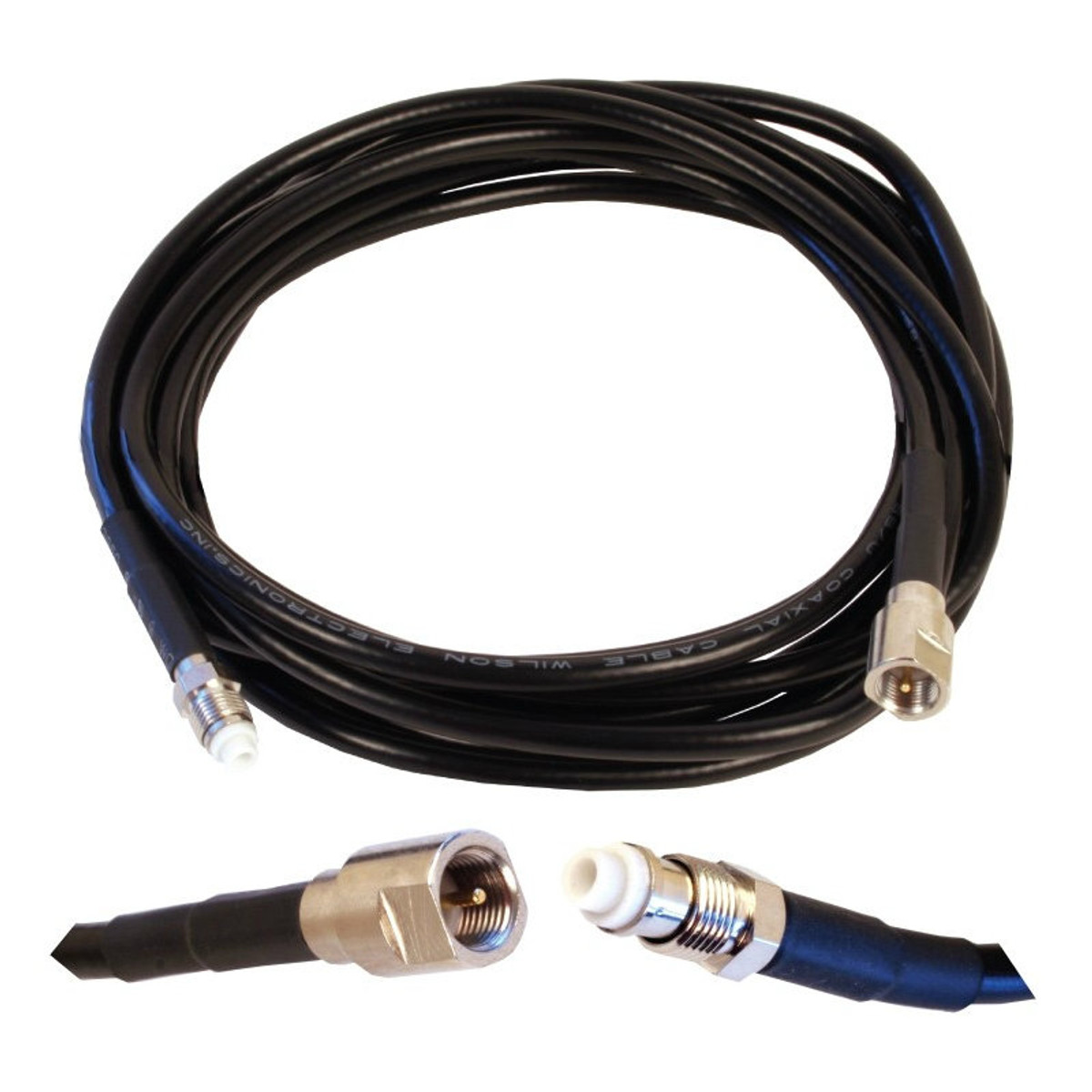 Wilson 951120 10-Foot Black Extension Cable RG58U Low Loss Foam Coaxial w/ N-Male ''Î'''_to FME Female Connectors, detail