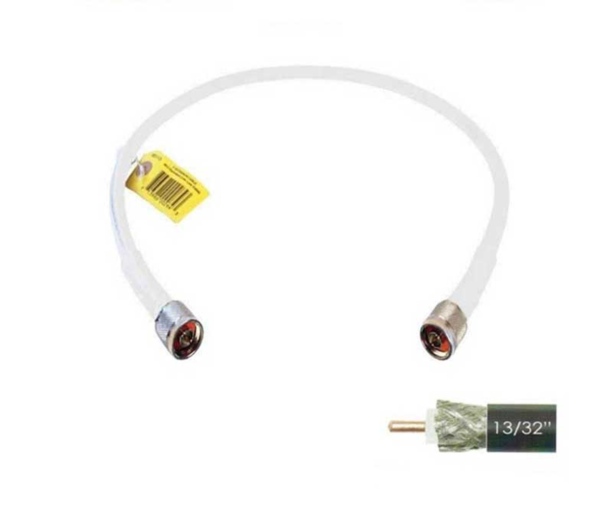 Wilson 952402 2-Foot WILSON400 Ultra Low Loss Coaxial Cable N Male to N Male White, label