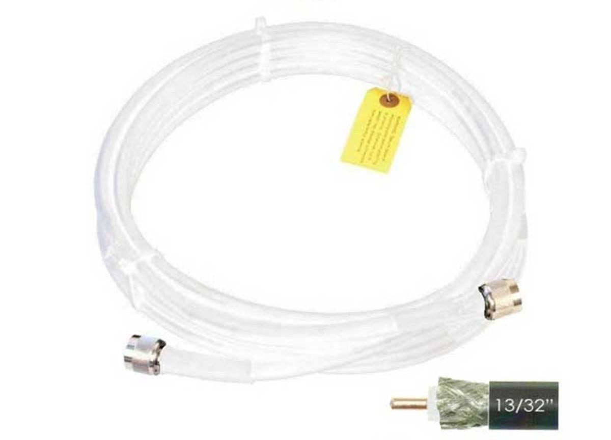 Wilson 952420 20-Foot WILSON400 Ultra Low Loss Coaxial Cable N Male '''_'ÇÎ⒑'__'''_''_'''_'ÇΝ'''_''_'''_'Ç N Male White, label