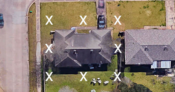 donor antenna location spots