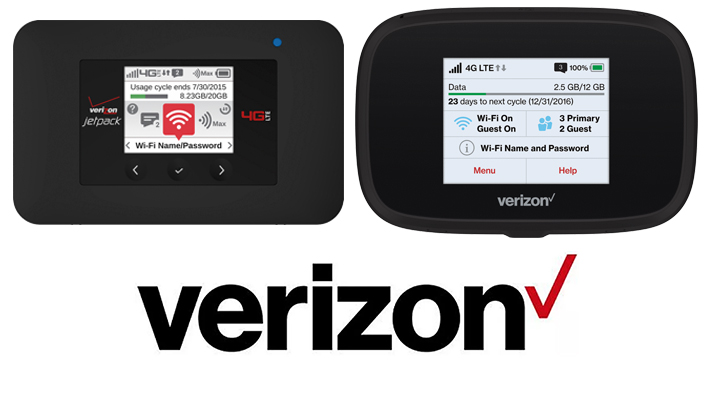 Samples of MiFi and Jetpack Verizon devices