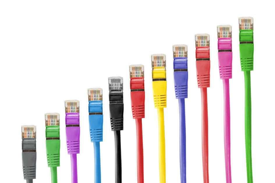colorful cable ethernet