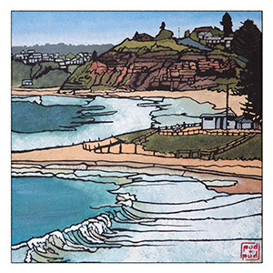 mona vale - bay to beach archival print