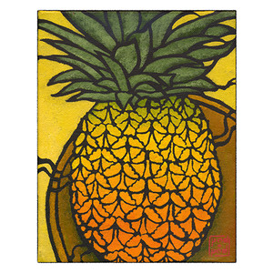 pineapple archival print
