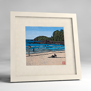 manly beach framed print