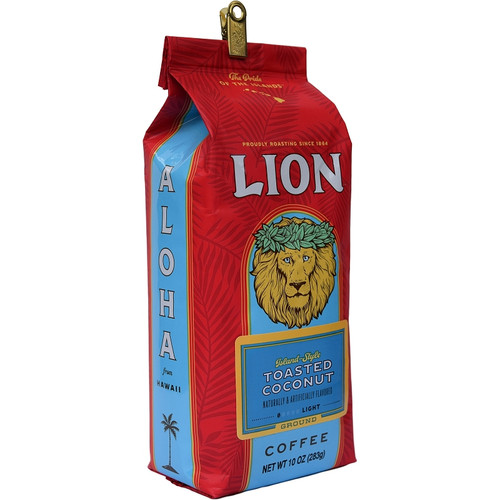 Lion Toasted Coconut Flavored Coffee 10 oz
