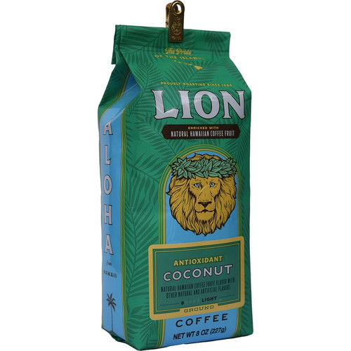 Lion Antioxidant Coffee with Kona Fruit Coconut Flavored 8 oz