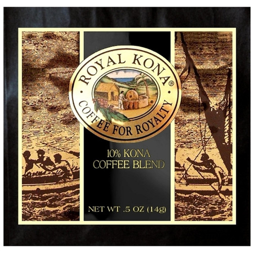 Royal Kona Mountain Roast 10% Kona 4-Cup Coffee Filter Packs
