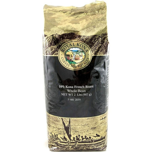 Royal Kona 10% Kona Coffee French Roast 2lb Bulk Coffee