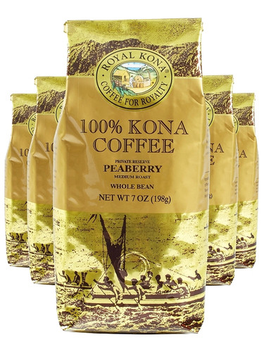 5 bags of Royal Kona 100% Kona