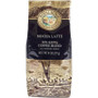 One eight ounce bag of Royal Kona Mocha Latte ten percent kona blend ground coffee. Brown and gold bag.