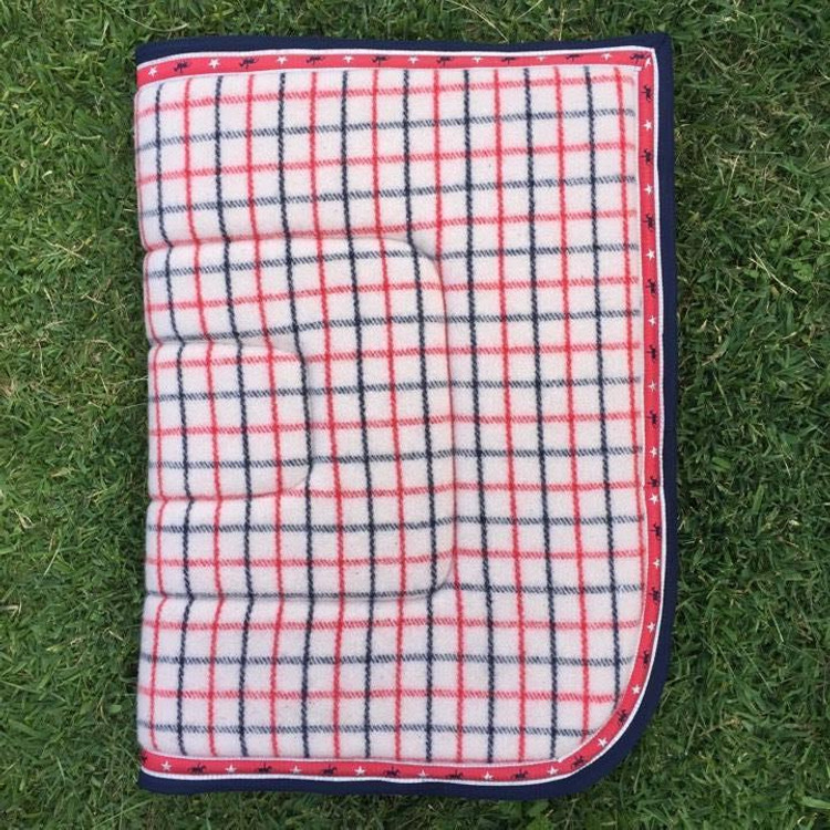 Collar Check Kersey Wool Saddle Blanket