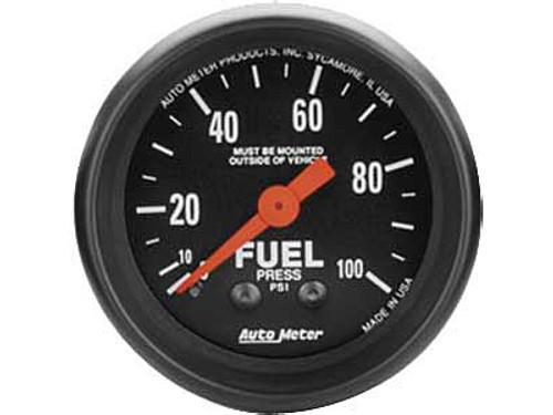 AutoMeter - 2-1/16 FUEL PRESSURE, 0-100 PSI, Z-SERIES