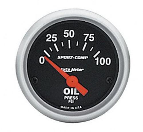 AutoMeter - 2-1/16 OIL PRESSURE, 0-100 PSI, SPORT-COMP