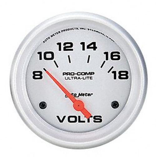 AutoMeter - 2-1/16 VOLTMETER, 8-18V, ULTRA-LITE