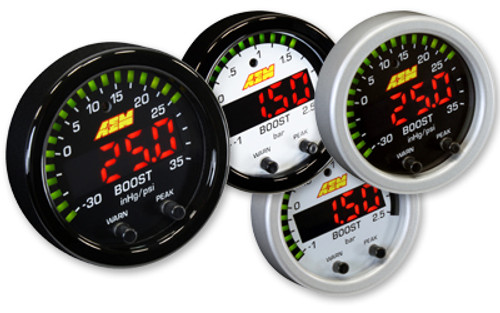 AEM -  X-Series Boost Pressure -30inHg 35psi Gauge