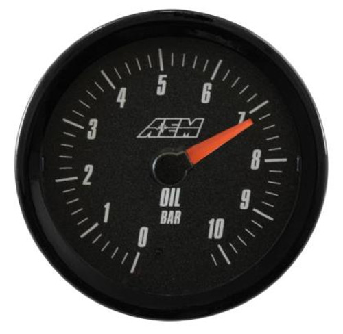 AEM - AEM Analog 10.2Bar Oil Pressure Gauge (Metric)