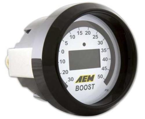 AEM - Digital Display Boost Gauge -30-50psi (4-In-1)