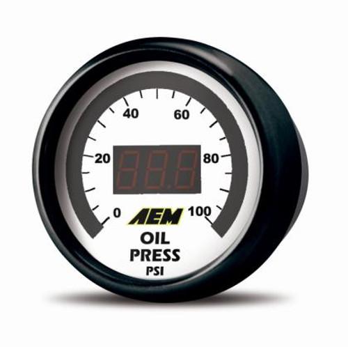 AEM -  52mm Pressure (Oil or Fuel) Digital Gauge