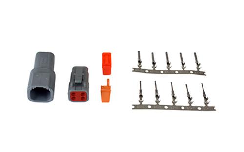 AEM - DTM-Style 2 Way Plug Connector w/ Pins