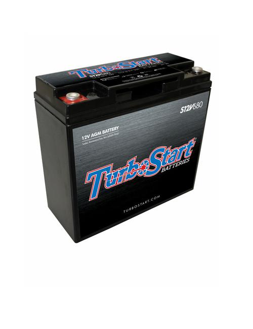 TurboStart - 12-Volt AGM Race Battery (S12V680)