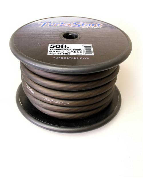TurboStart - 0AWG Black Cable
