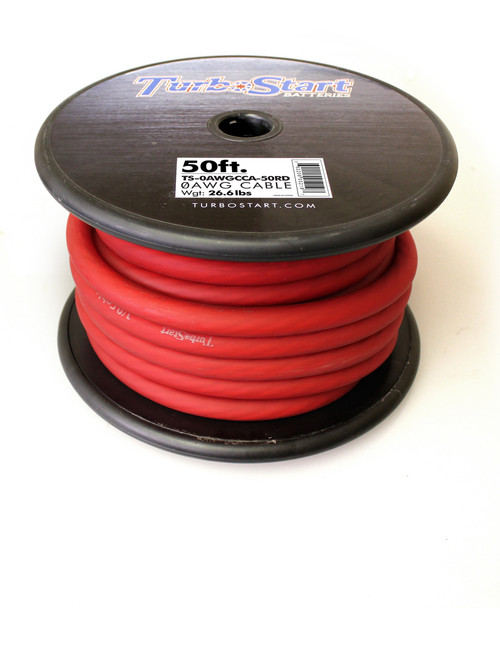 TurboStart - 0AWG Red Cable