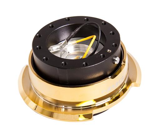 NRG - Quick Release GEN 2.8 (Black Body/Chrome Gold Ring)