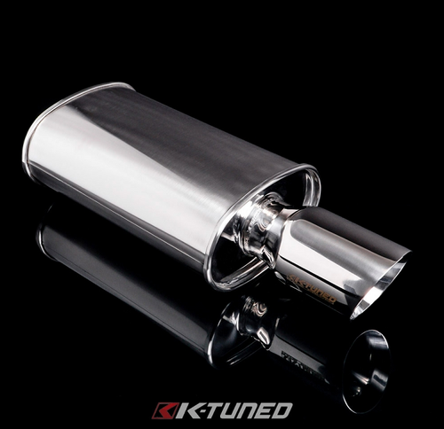 K-Tuned -  Universal Muffler - Polished / Long (Center Inlet / Outlet)