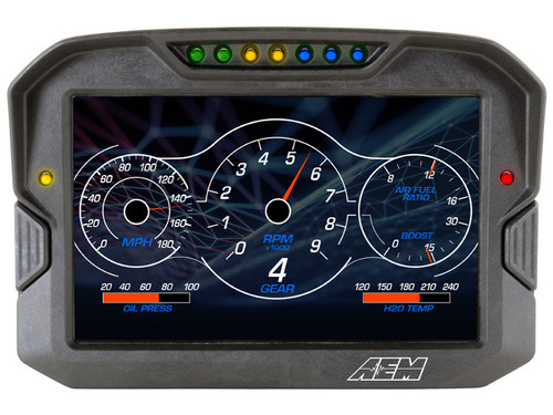 AEM - CD-7 Non-Logging Race Dash Carbon Fiber Digital Display (CAN Input Only)