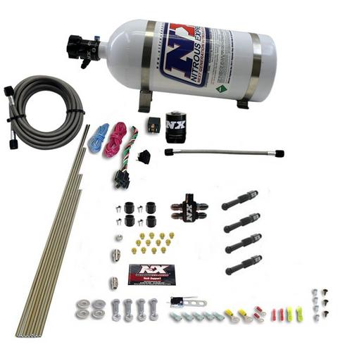 Nitrous Express - Dry Direct Port Nitrous System w/ Bottle Heater & Purge