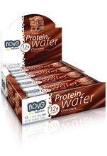 Novo Protein Wafer Bar 38Gm Chocolate [12 Bars ]